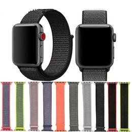 спортивные наручные часы Скидка Для Apple Watch iWatch Band Sport Loop 42/44 мм 38/40 мм Нейлон Мягкий регулируемый запястье Умные ремни для Apple Watch 1234