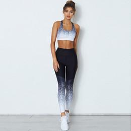Pantalones de yoga para damas calientes online-Diseñador de las mujeres Polainas 2019 Nueva Dama Activadores de Yoga Venta Caliente Activa Gradiente de Verano Medias Pantalones con S-XL Availiable