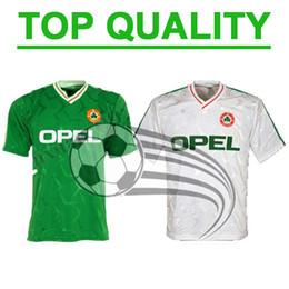 14b9a113b 1990 Ireland RETRO soccer jersey football shirt Republic of Ireland  National Team Jerseys 90 World cup soccer shirt green Football uniforms