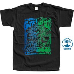 Diseños de carteles online-Diseño de camisa personalizada Grateful Dead Live Poster Camisas de cuello redondo de algodón suave y corto para hombres