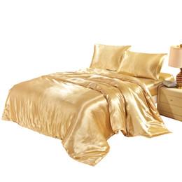 Teintures textiles en Ligne-Satin King Housse de couette Twin Queen Taille unique Couette / Couette / Housse Simple Teint Literie Confortable Couvre Home Textile