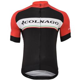 jerseys ciclismo Rebajas 2019 Nuevo equipo COLNAGO Secado rápido Ciclismo de verano Jersey Camisetas de carreras Ropa Ciclismo Bicicleta de carretera MTB Ropa Y022801