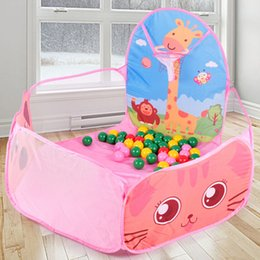 2019 baby pop up tende Tende pieghevoli Ocean Pool Pit Pool Portable Toy per bambini Tent House Play Set Toy Giocattoli divertenti Baby Christmas Xmas Regali di compleanno
