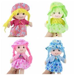 2019 giocattoli all'ingrosso delle bambine Simpatico giocattolo per bambole da 3 stili con gonna e cappello fioriti 42cm Bambola per bambole in peluche Decorazione per la casa Regalo per bambini L274