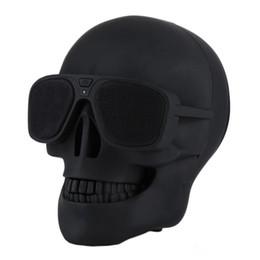 Skull Player Haut-parleur sans fil Bluetooth Haut-parleur lunettes de soleil Subwoofer Mobile Haut-parleurs multifonctions Cool pour Smart phone Android ? partir de fabricateur