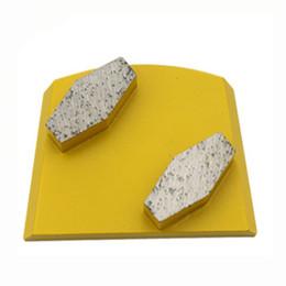 2019 pavimentos para pavimentos em betão KD-B50 Lavina diamante moagem de diamante bloco de moagem com dois segmentos de tambor para piso de concreto e terrazzo 9 peças de um conjunto pavimentos para pavimentos em betão barato