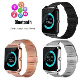 Perakende Z60 çelik kemer akıllı izle sağlık izle su geçirmez bluetooth spor takip masa pedometre sedanter hatırlatma çocuk bayanlar erkekler supplier gps tracking watches for kids nereden çocuklar için saatler izleme gps tedarikçiler