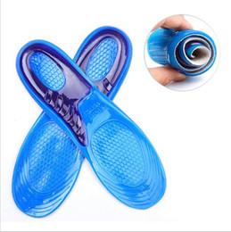 Palmilhas ortopédicas on-line-Palmilhas Gel de Silicone Homem Mulheres Palmilhas Ortopédicas Massageando Sapato Inserções Shock Absorption Shoepad Alta Qualidade YYA121