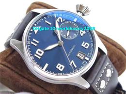 Les cristal on-line-ZF Top Swiss Big Pilot Le Petit Prince IW500916 Mens Watch Dial Azul cristal de safira suíça 51111 Automatic 28800vph Energia de Reserva 46 milímetros