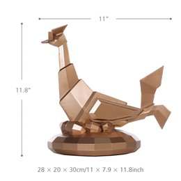 Tomfeel Óculos Frango Resina Escultura Home Decor Estatueta de Arte Moderna Animal Estátua De Fibra De Vidro de
