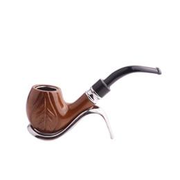 Madera de resina online-2019 Nueva baquelita clásico grano de madera de resina exquisita pipa de tabaco