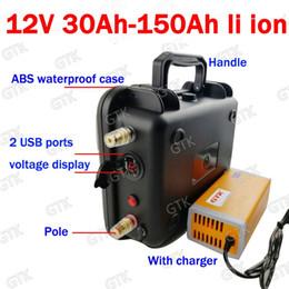 2019 ecig box mod lila Wasserdichte 12v 80ah Lithiumbatterie 12v 40AH 60AH 100AH 120AH 150AH USB-Solarenergie-Speicherbatteriefischerboot + Ladegerät 10A