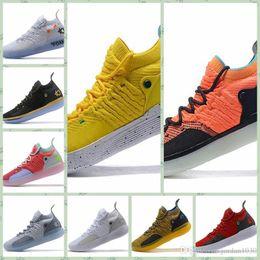 sapatos kd cor-de-rosa Desconto Nike KD 11 2019 Hot Sale KD 11 EP Branco Laranja espuma rosa Paranoid Oreo ICE tênis de basquete originalsKevin Durant XI KD11 Mans Trainers Sneakers