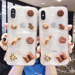 2019 max chocolats Pour iPhone X XS Max XR Chocolate Chip Cookies Phone Housse Housse en silicone pour iPhone 7 8 6 6s plus de cas max chocolats pas cher