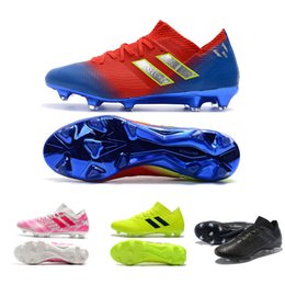 e6ab16becabe Band New MESSI Nemeziz 18.1 FG - Initiator Pack Men Soccer cleats bandage football  boots Best quality Soccer Shoes Collection