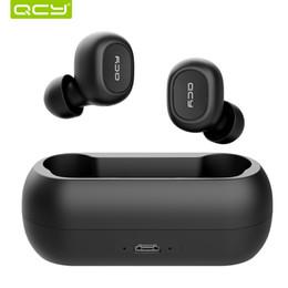 Fones de ouvido qcy on-line-2018 QCY T1C Mini Fones De Ouvido Bluetooth com Microfone Esportes Sem Fio Fones De Ouvido Com Cancelamento de Ruído fone de Ouvido e caixa de carregamento BT 5.0 TWS fones de ouvido
