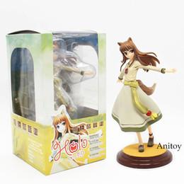 caixa holo Desconto Frete Grátis Anime Kotobukiyae Lobo Holo Renovação 1/8 Scale Boxed Pvc Action Figure Coleção Modelo Toy 8 polegada 20 cm Kt3877