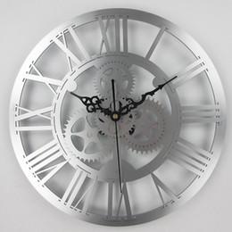orologi da parete a ingranaggi grandi Sconti Europeo orologio da parete dell'ingranaggio antico orologio d'epoca cambio meccanico grande parete per l'arte casa decorazione del salone