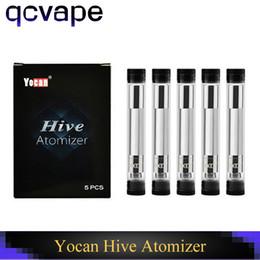 2019 horno atomizador vape Cartuchos originales del aceite de la cera del atomizador de Yocan Hive del 100% para la colmena 2 de Yocan en mods de 1 caja