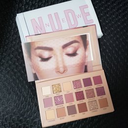 Пакет для пк онлайн-Высокое качество новая красота макияж палитра hudamoji ню 18 цветов палитры теней для век матовый мерцание ПВХ пакет реальные фотографии 12 шт. DHL доставка