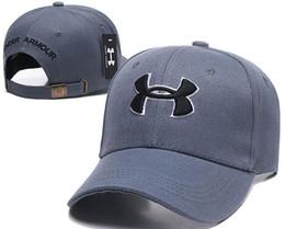 Ua спорта онлайн-2019 новая мода хлопок высокого качества шапки вышитые хип-хоп футбол регулируемая Мужчины Женщины спорт ua Snapback кости бейсбол баскетбол шляпы