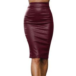 e5372752dc7 Women Sexy New Metal Ring Zipper Skirts Up Faux Leather Bodycon Skirt  Fashion Sexy High Waist PU Mini A-Line Skirt
