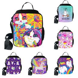2019 saco animal do almoço dos miúdos Aluno Isolados Almoço Bag 18 Design Unicórnio Dos Desenhos Animados Grande Capacidade Sacos de Ombro Crianças de Alta Qualidade Quadrado Criativo Saco De Piquenique 06 saco animal do almoço dos miúdos barato