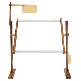 supporto per cucire Sconti Supporto da pavimento per ricamo a punto croce da tavolo in legno massiccio di regolazione per cucito Cucito a mano Strumenti Croce cinese