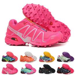 Mejores zapatillas para caminar online-Salomon 2019 Zapatos de mujer Peedcross 3 Trail Hombres de mejor calidad Zapatos para correr al aire libre Un deporte para correr Zapatillas de deporte de moda Caminar al aire libre