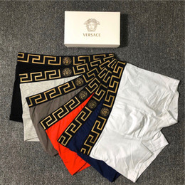 calças justas Desconto G2VERSACE dos homens do desenhista Boxer Marca Cueca 2019 Letter pugilista New Fashion Underwear Roupa interior luxo casual cor sólida