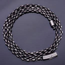 2020 o kettenhalskette rostfrei Vintage schwarze Mens-Halskette Klassische O-Verbindungs-Ketten 4.5MM Weit lange Halskette für Männer 316L Edelstahl-Schmuck Male Dropship günstig o kettenhalskette rostfrei