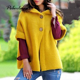 Suéteres cardigan amarillo para mujer online-Suéter de otoño para mujer chaqueta de invierno 2019 suéteres de punto amarillo coreano chaqueta de punto con capucha para mujer ropa de mujer pull femme