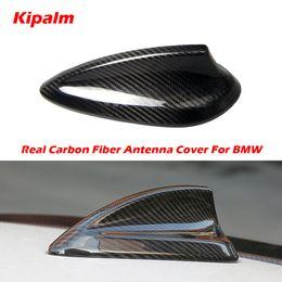 2019 antena de fibra Fibra De Carbono Real Tubarão Barbatana Antena capa para bmw e90 e92 m3 f20 f30 f10 f34 f30 g30 m5 f16 f21 f45 f56 f01 tubarão barbatana antena tampa desconto antena de fibra