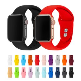 Argentina Correa para Apple Watch Band 38mm 40mm 42mm 44mm Doble caucho Botón Silicona IWatch Correa para Apple Watch Serie 4,3,2,1 81024 Suministro