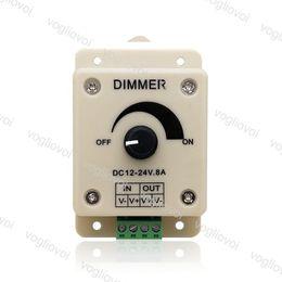 Регулятор 24v онлайн-Светодиодный диммер переключатель 12V 24V 8A регулятор напряжения регулируемый контроллер для светодиодной полосы света лампы DHL