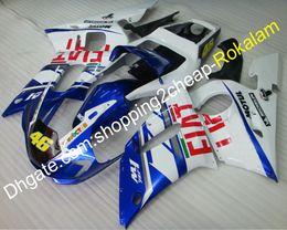 2019 1999 yamaha r6 обтекатели пластмасс Для Yamaha Обтекатели Fit YZFR6 YZF 600 R6 1998 1999 2000 2001 2002 YZF-R6 АБС-пластик обтекатель кузова АБС (литье под давлением) дешево 1999 yamaha r6 обтекатели пластмасс