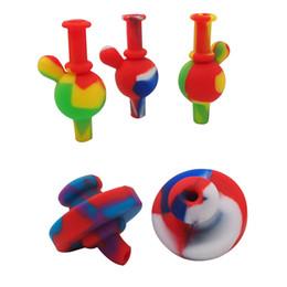 Botella de burbujas online-Agua Bongs Dab Rigs Silicona Carb Cap Agujero de aire Burbuja de color 4 Tipos Botella Cúpula Para Cuarzo Banger Nail Domeless Nails Plataforma petrolera