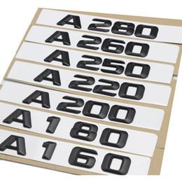 Autocollant numéro 3d en Ligne-1set Asiatique noir A220 A280 A Botte Arrière Boot Emblème Logo Badge Nombre Lettres Pour Mercedes Benz Classe A160 A180 A80 A250 A260