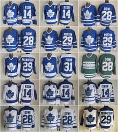 Лучшие классические хоккейные майки онлайн-Лучшие 14 трикотажных изделий Dave Keon для мужчин Toronto Maple 28 Tie Domi Leafs 29 Феликс Потвин 29 Майк Палматир 31 Грант Фур Хоккей Винтаж Классика