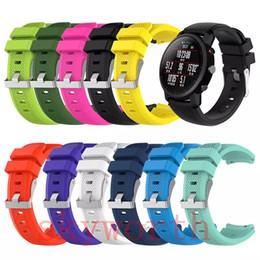 Nuevo reloj samsung online-Nuevo Reemplazo Muñequera Correa Correa de silicona Broche para Samsung Gear S3 tiempo de guijarros ZTE Cuarzo mazfit ASUS Bandas de reloj inteligentes Pulsera
