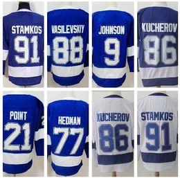 Stamkos jersey дешевый онлайн-персонализированные 86 КУЧЕРОВ 91 STAMKOS майки хоккейные майки, Скидка Дешевые 21 POINT 77 HEDMAN 9 ДЖОНСОН 88 ВАСИЛЬЕВСКИЙ Трикотажные изделия хоккейной одежды