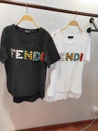 2019 camisetas para mujer 2019SS Camiseta para mujer Camiseta con letra F Camiseta Top para mujer para verano, marca blanca transpirable, camisetas camisetas para mujer baratos