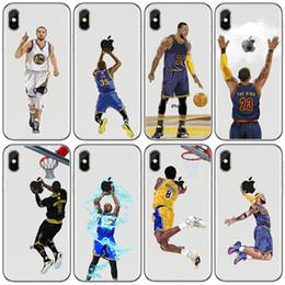 2019 caso di pallacanestro di iphone tpu Custodia per telefono designer di pallacanestro per Iphone XR XS Max 8 7 6 6s più S7 S8 S9 custodia morbida in TPU per pittura sconti caso di pallacanestro di iphone tpu