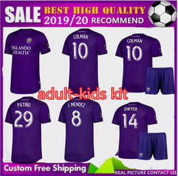 Orlando fußball jersey online-Erwachsene KIDS 2019 2020 Orlando City Trikot KITs 19 20 Männer JUNGEN MLS J.MENDEZ MUELLER COLMAN DWYER KLJESTAN PATINO FUßBALL HEMDEN