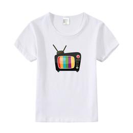 Baby boy t shirts cuello alto online-Televisión de dibujos animados Imprimir Camiseta Bebé Niños Niñas Tops Casual Verano de Manga Corta con O-cuello Camiseta Niños Ropa de TV de Alta Calidad