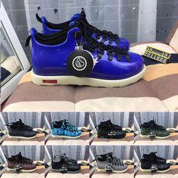 Scarpette grigio mens online-New Native Fitzsimmons Luxury Leather Mens Boots Blu Nero Marrone Grigio Designer Mens donna Sport sneakers EUR 38-45