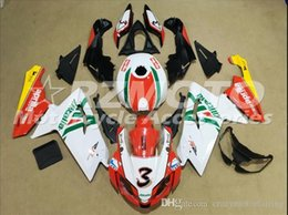 rs4 kit Coupons - Injection mold Fairing KIT for Aprilia RS4 125 06 07 08 09 10 11 RS4 RSV 125 2006 2009 2011 White Red ABS Fairings set+3gifts APP8