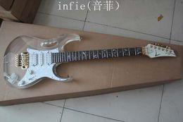 guitares électriques en verre Promotion Livraison gratuite Nouveau 6 cordes guitare électrique acrylique transparent verre organique harpe couleur de corps guitare