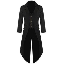 2019 casaco preto De alta qualidade por atacado venda quente homens feitos à mão casaco vitoriano fraque steampunk gótico vampiro frock casaco preto ypf201 casaco preto barato