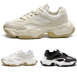 hommes vente chaude Woemn vieilles chaussures de papa gris blanc noir chaussures de sport de marque de jogging confortables chaussures de course